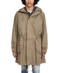 Barbour X Engineered Garments Washed Highland Parka - Natural