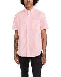 Gitman Brothers Vintage - Neon Oxford Stripe Short Sleeve Shirt - Lyst