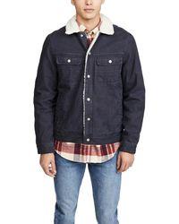 Faherty Brand Sherpa Stormrider Jacket - Black