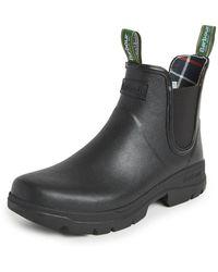 Barbour Fury Chelsea Wellington Boots - Black