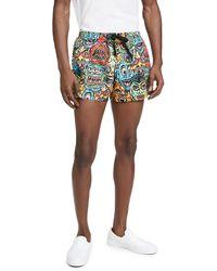 Moschino Allover Monster Print Swim Shorts - Multicolour