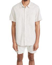 Madewell Linen-cotton Perfect Short-sleeve Shirt - White