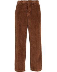 Barena Delfo Wide Wale Corduroy Trousers - Brown