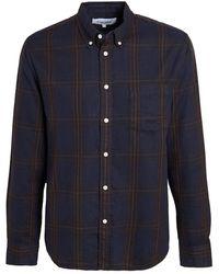 Corridor NYC Big Check Flannel Shirt - Blue