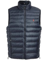 Polo Ralph Lauren Packable Recycled Nylon Down Vest - Blue