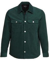 A.P.C. Alex Shirt Jacket - Green