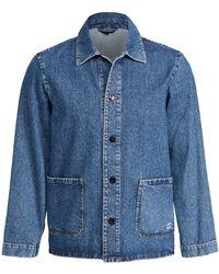 A.P.C. Kerlouan Denim Chore Coat - Blue