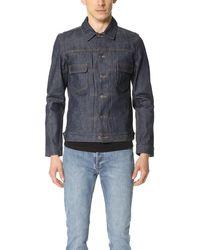 A.P.C. Raw Denim Work Jacket - Blue