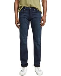 PAIGE Federal Slim Jeans In Russ Wash - Blue
