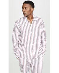 Sleepy Jones Dual Stripe Henry Pj Top - Multicolour