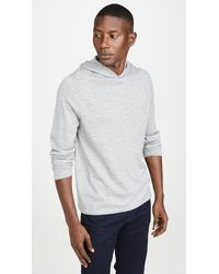 Vince Long Sleeve Pullover Cashmere Hoodie - Gray