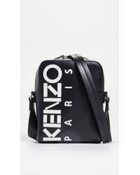 70cb44040 KENZO Black Tiger-embroidered Canvas Belt Bag in Black for Men - Lyst