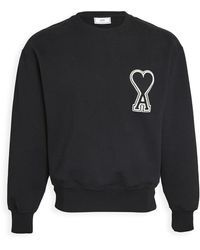 AMI Big Heart Logo Crew Neck Sweatshirt - Black