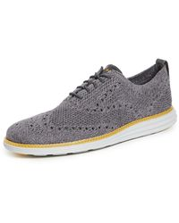 Cole Haan Original Grand Stitchlite Wingtip Oxford Shoes - Grey