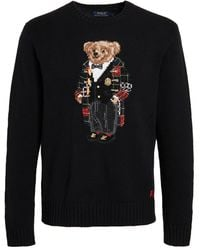 Polo Ralph Lauren Wool Holiday Bear Crew Neck Sweater - Multicolor