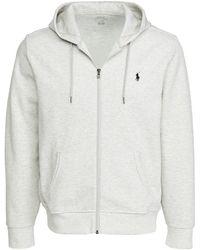 Polo Ralph Lauren Double Knit Tech Full Zip Hoodie - Grey