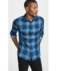 Vince - Double Face Plaid Shirt - Lyst