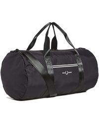 Fred Perry Sports Twill Barrel Bag - Black