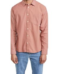 Corridor NYC Panelled Dusty Rose Shirt - Pink