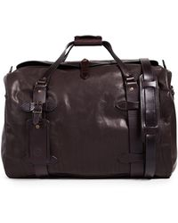 Filson Weatherproof Leather Medium Duffle Bag - Brown