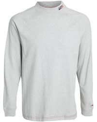 Tommy Hilfiger Tommy Jeans Luis Mock Neck Tee - Gray