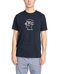 A.P.C. X Brain Dead Spooky Short Sleeve Tee - Blue