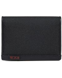 Tumi Alpha Gusseted Card Case With Id Window - Black