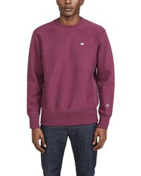 Champion Reverse Weave Crew Sweatshirt - Purple