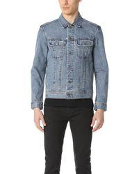 A.P.C. Washed Stretch New Denim Jacket - Blue