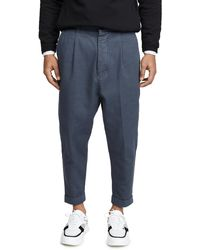 AMI Oversized Carrot Fit Pants - Blue