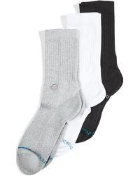 Stance Icon 3 Pack Crew Socks - Multicolour