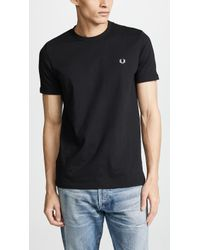 Fred Perry - Embroidered Logo Tee - Lyst