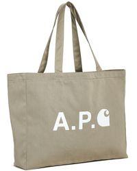 A.P.C. P.c.a.c. X Carhartt Wip Shopping Tote - Multicolor