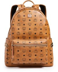 MCM Stark Medium Side Stud Backpack - Brown