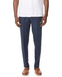 Club Monaco - Striped Suffolk Trousers - Lyst