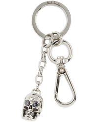 Paul Smith Skull Key Ring - Metallic
