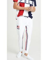 Polo Ralph Lauren Chariots Sweatpants - White