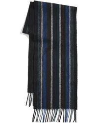PS by Paul Smith Collage Stripe Scarf - Black