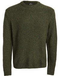 PS by Paul Smith Wool Donegal Crew Neck Sweater - Green