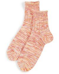 Anonymous Ism 5 Col Mix Q Socks - Pink