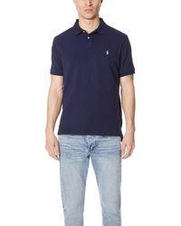 Polo Ralph Lauren Custom Slim Fit Polo Shirt - Blue