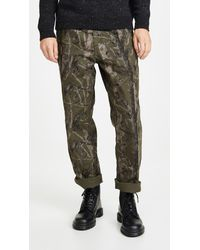 Carhartt WIP Double Knee Canvas Work Trousers - Green