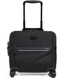 Tumi Alpha Compact 4 Wheel Briefcase - Black