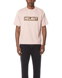 Helmut Lang - Helmut Logo Tall Tee - Lyst