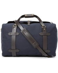 Filson Leather-trimmed Twill Duffle Bag - Blue