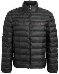 Polo Ralph Lauren Packable Recycled Nylon Down Jacket - Black