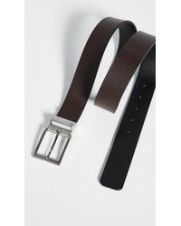 BOSS - Reming Reversible Leather Belt - Lyst