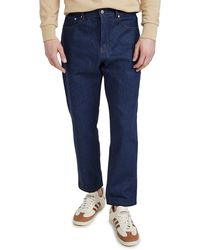 AMI Men Tapered Fit 5 Pockets Jeans - Blue