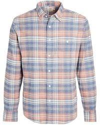 Faherty Brand Stretch Sweaview Flannel Shirt - Blue