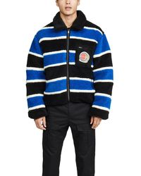 Marni Jersey Striped Fleece Jacket - Blue